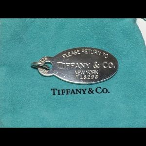 Tiffany & Co vintage RTT oval Pendant